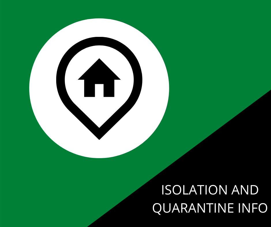 ISOLATION AND QUARANTINE INFO - WEB IMAGE